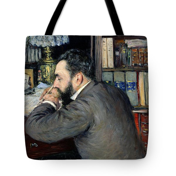 Portrait Of Henri Cordier Tote Bag by Gustave Caillebotte