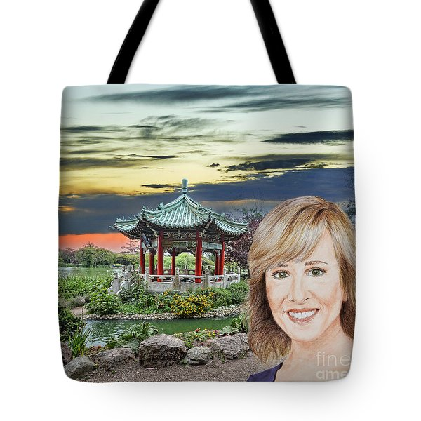 Portrait Of Jamie Colby By The Pagoda In Golden Gate Park Tote Bag
