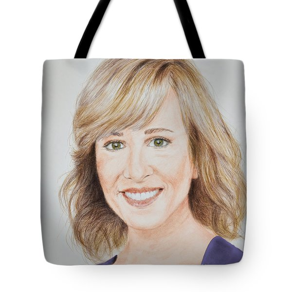 Portrait Of Jamie Colby Tote Bag