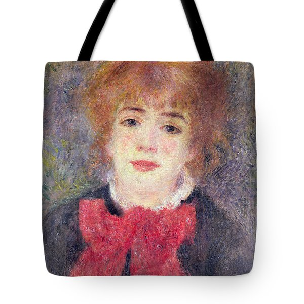 Portrait Of Jeanne Samary Tote Bag by Renoir