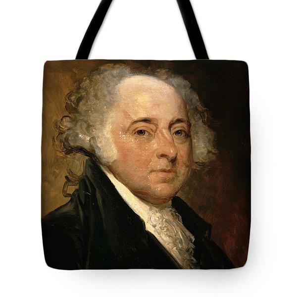 Portrait Of John Adams Tote Bag by Gilbert Stuart