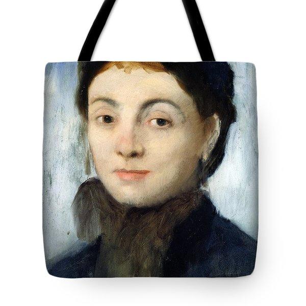 Portrait Of Josephine Gaujelin Tote Bag by Edgar Degas