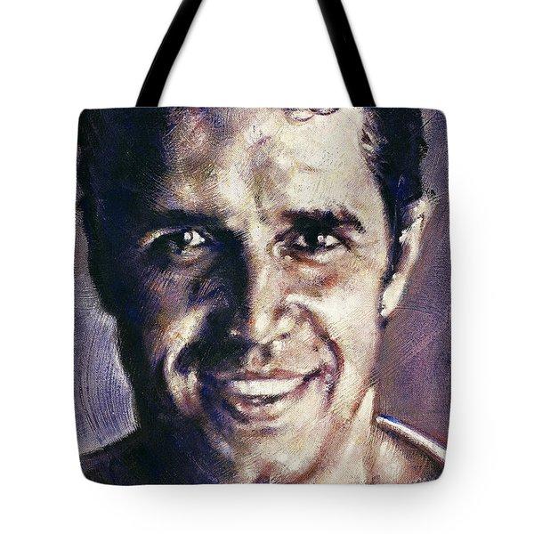 Portrait Of Julien Clerc Tote Bag