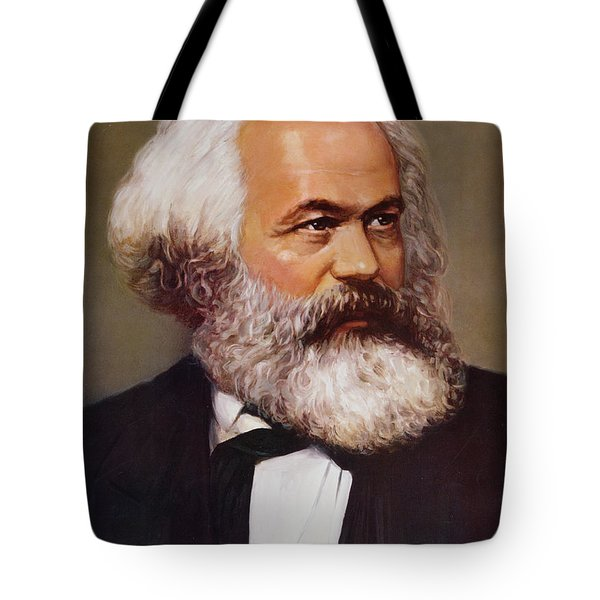 Portrait Of Karl Marx Tote Bag by Unknown