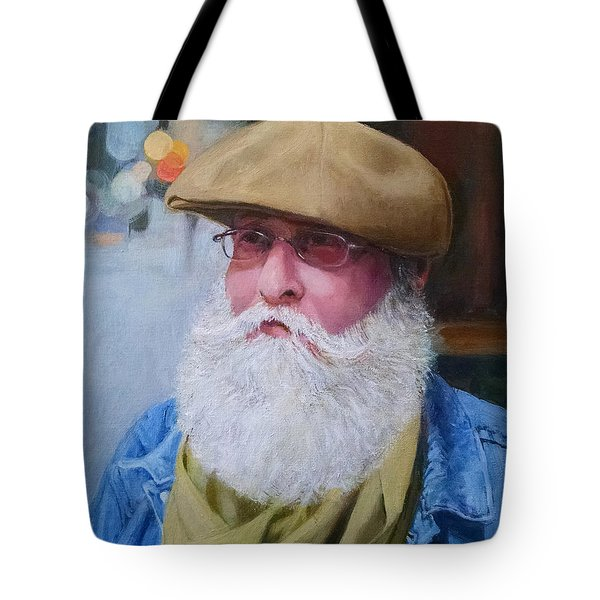 Portrait Of Kenn Lubin Tote Bag by Mark Lunde