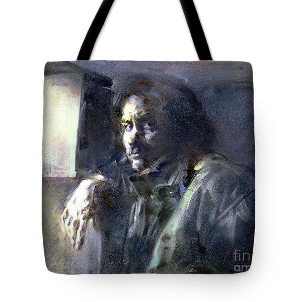 Portrait Of Kip Hanrahan - At The 11th Street Studio, Nyc - Tote Bag