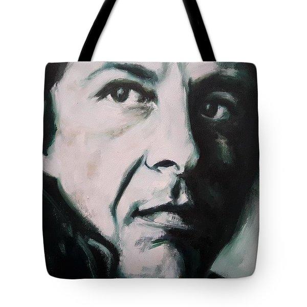 Portrait Of Leonard Cohen Tote Bag