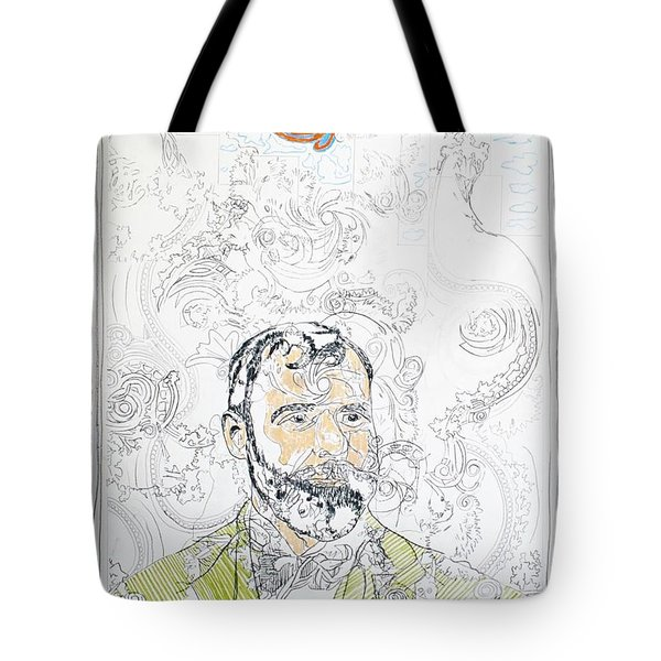 Portrait Of Louis Sullivan Tote Bag