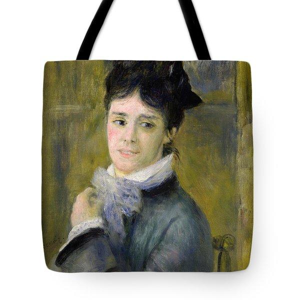 Portrait Of Madame Claude Monet Tote Bag by Renoir