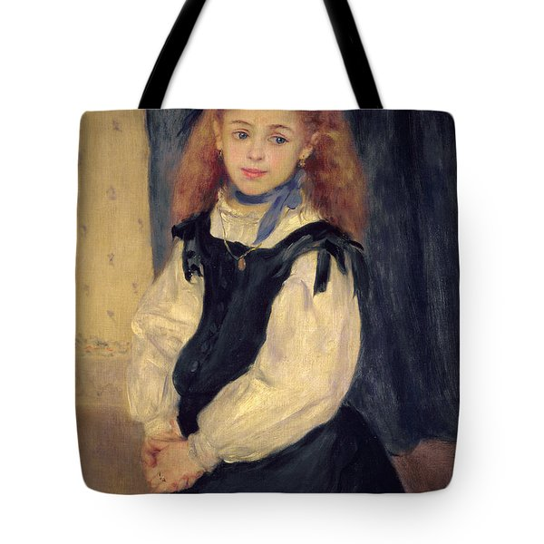 Portrait Of Mademoiselle Legrand Tote Bag by Pierre Auguste Renoir