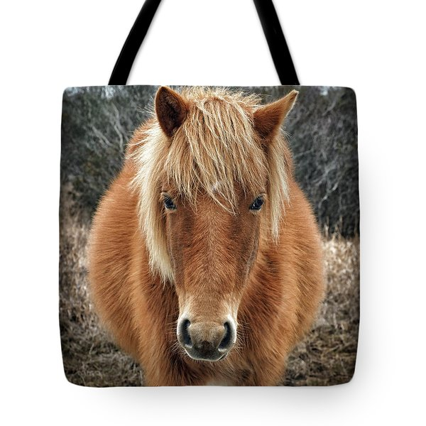 Tote Bag featuring the photograph Portrait Of Mieke's Noe'lani by Assateague Pony Photography