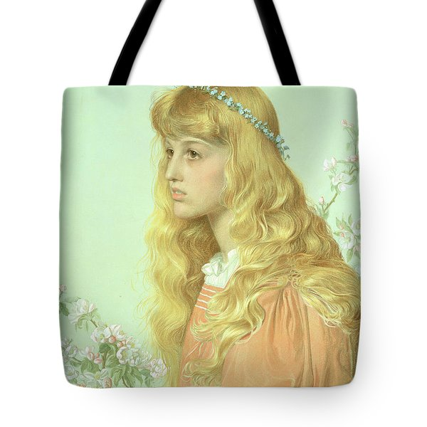 Portrait Of Miss Adele Donaldson, 1897 Tote Bag by Anthony Frederick Augustus Sandys