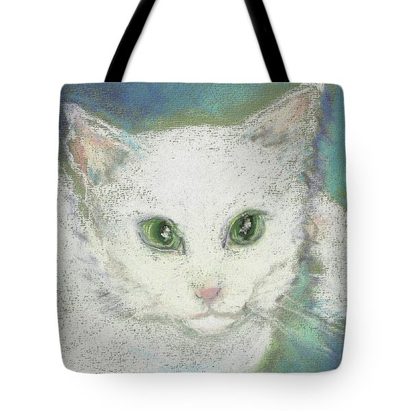 Tote Bag featuring the drawing Portrait Of Misty by Denise Fulmer