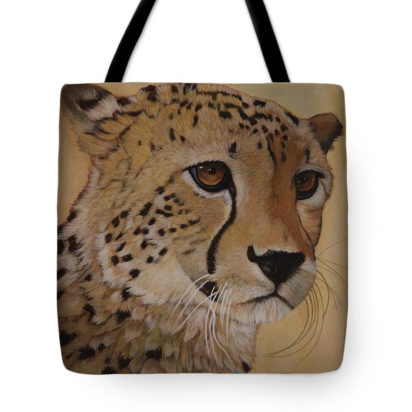Portrait Of Murphy - Male Cheetah Tote Bag