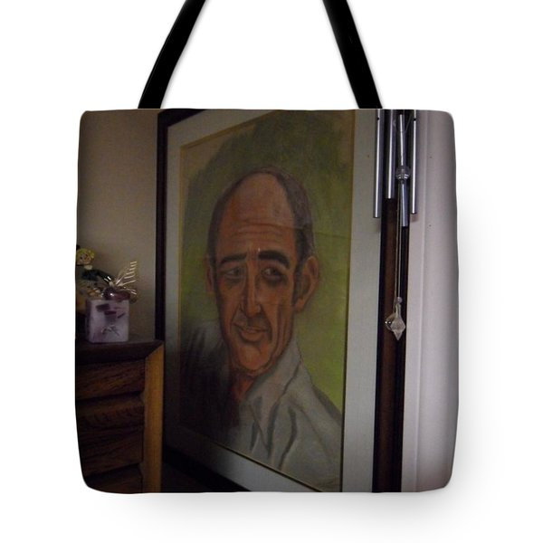Portrait Of My Dad Tote Bag