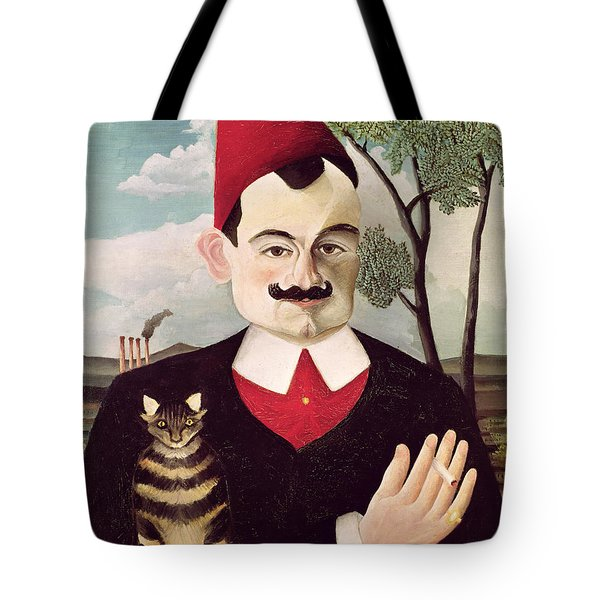 Portrait Of Pierre Loti Tote Bag by Henri Rousseau