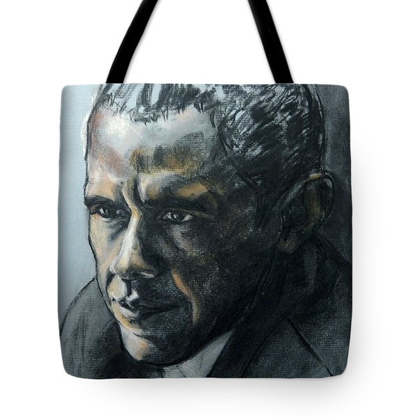 Charcoal Portrait Of President Obama Tote Bag