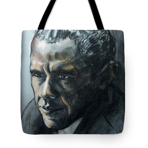 Charcoal Portrait Of President Obama Tote Bag