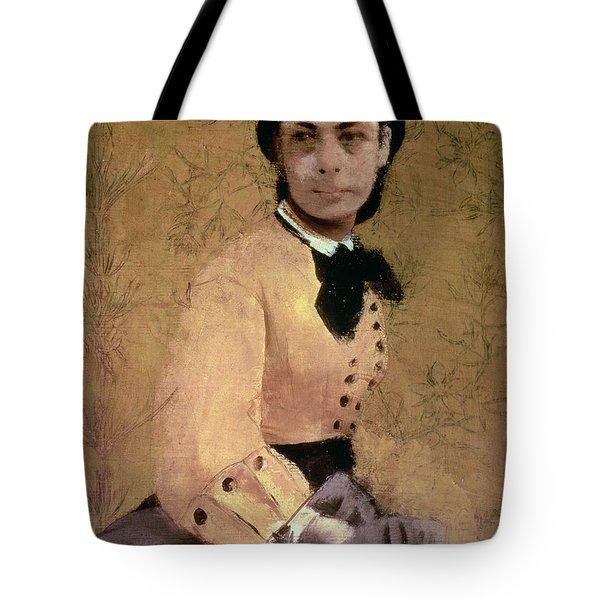 Portrait Of Princess Pauline De Metternich Tote Bag by Edgar Degas