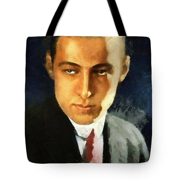 Portrait Of Rudolph Valentino Tote Bag