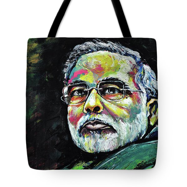 Portrait Of Shri Narendra Modi Tote Bag