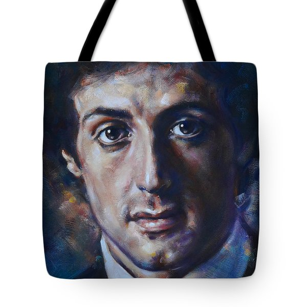 Portrait Of Sylvester Stallone Tote Bag