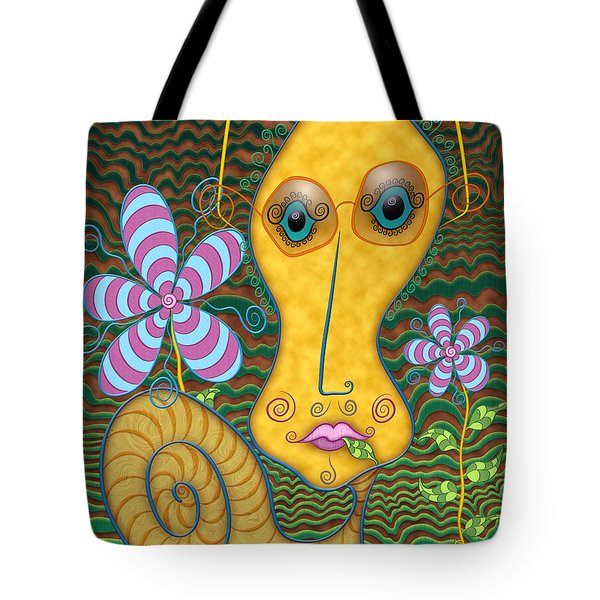 Portrait Of The Artist As A Young Snail Tote Bag