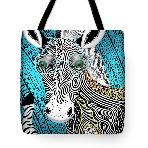 Portrait Of The Artist As A Young Zebra Tote Bag