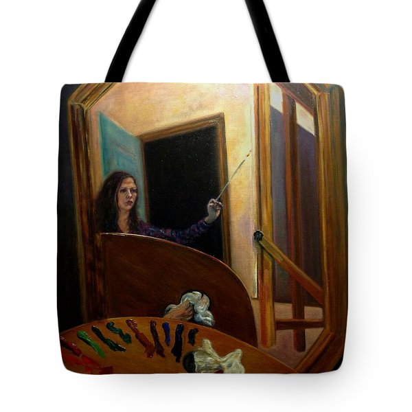 Portrait Of The Artist Tote Bag