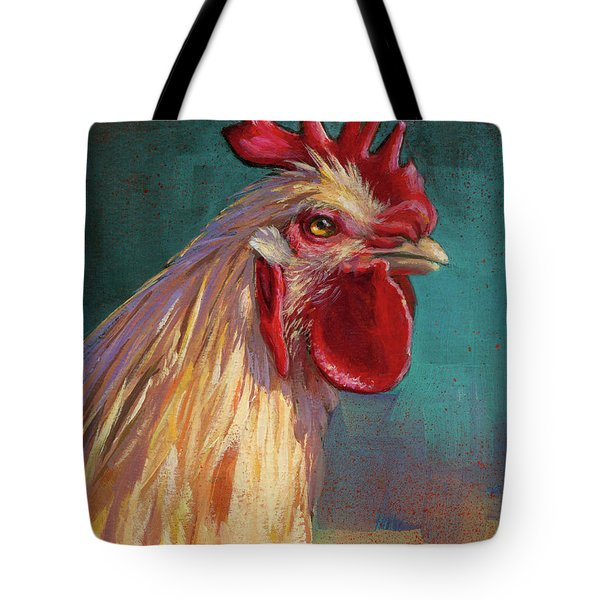 Portrait Of The Chicken As A Young Cockerel Tote Bag