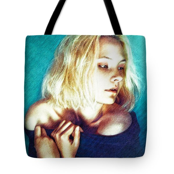 Portrait Of The Girl Who Is Painfully Shy Tote Bag