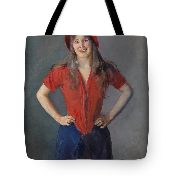 Portrait Of The Painter Oda Krohg, B. Lasson 1888 Tote Bag