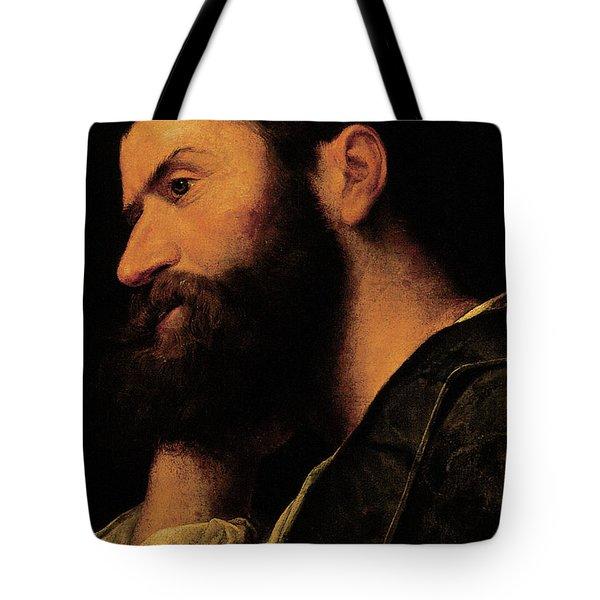 Portrait Of The Poet Pietro Aretino Tote Bag
