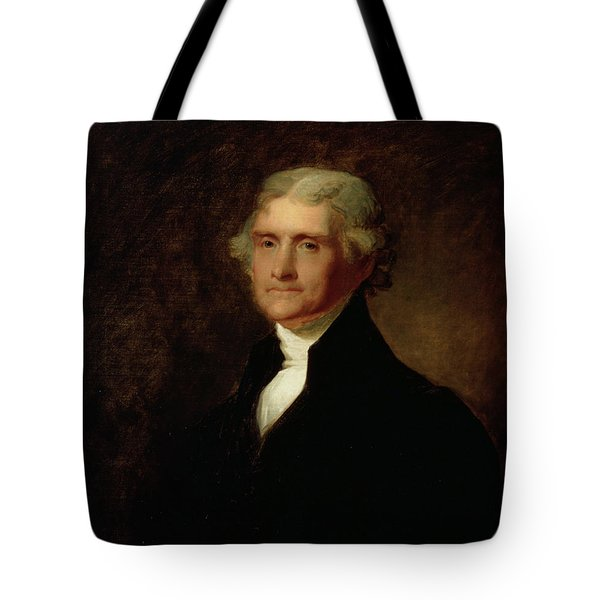 Portrait Of Thomas Jefferson Tote Bag by Asher Brown Durand