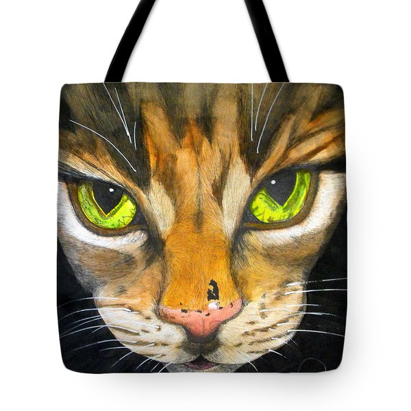 Portrait Of Tigger Tote Bag by Chris Crowley