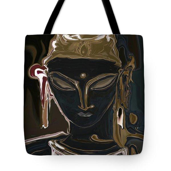 Tote Bag featuring the digital art Portrait Of Vajrasattva by Rabi Khan