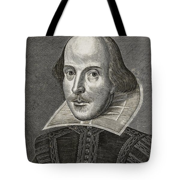 Portrait Of William Shakespeare Tote Bag by Martin the elder Droeshout