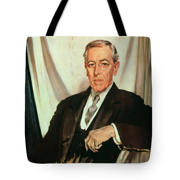 Portrait Of Woodrow Wilson Tote Bag by Sir William Orpen