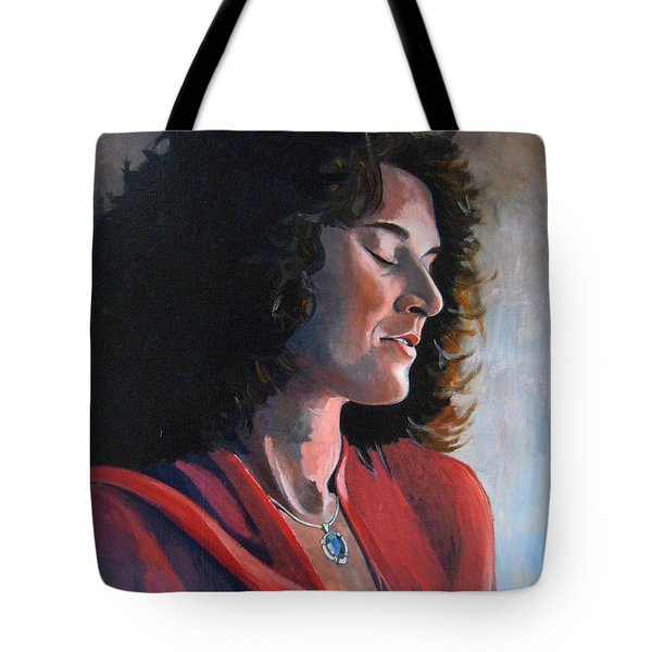 Portrait Of Young Isabelle Tote Bag by Ray Agius