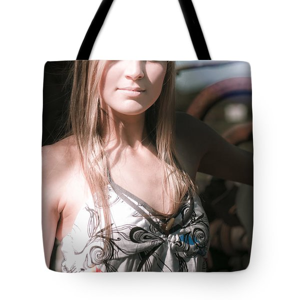 Portrait Of Young Woman Tote Bag by Jorgo Photography - Wall Art Gallery