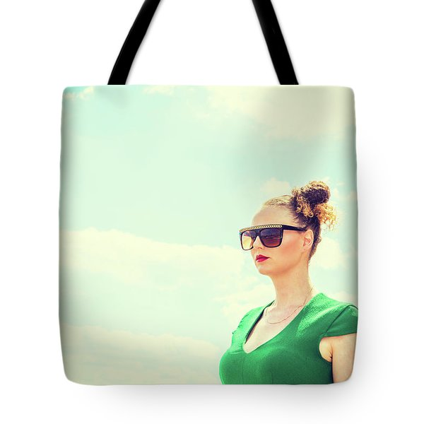 Portrait Of Young Woman Tote Bag