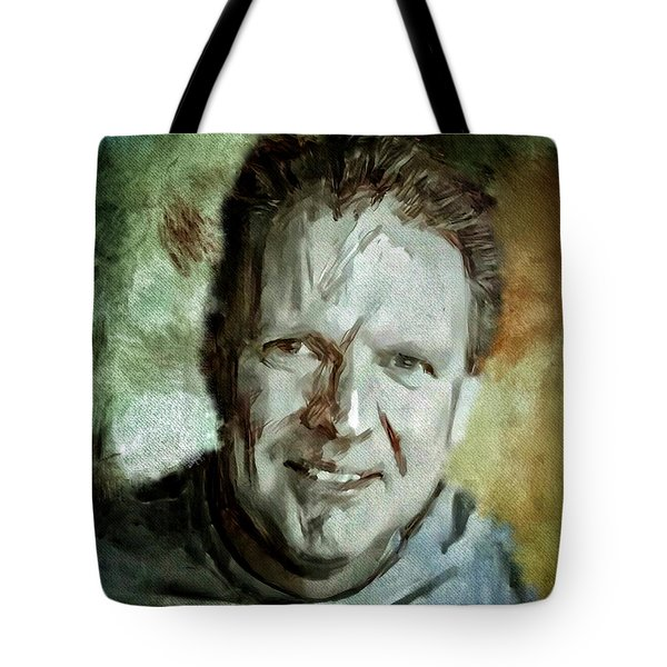 Portrait Painting Cinematographer Camera Operator Behind The Scenes Movie Tv Show Film Chicago Med Tote Bag by MendyZ