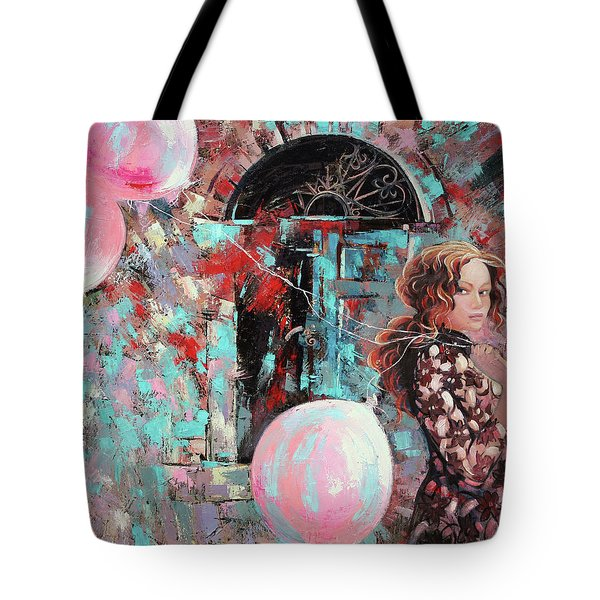 Portrait. Pink Dreams Tote Bag