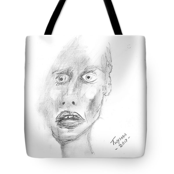 Portrait With Mechanical Pencil Tote Bag