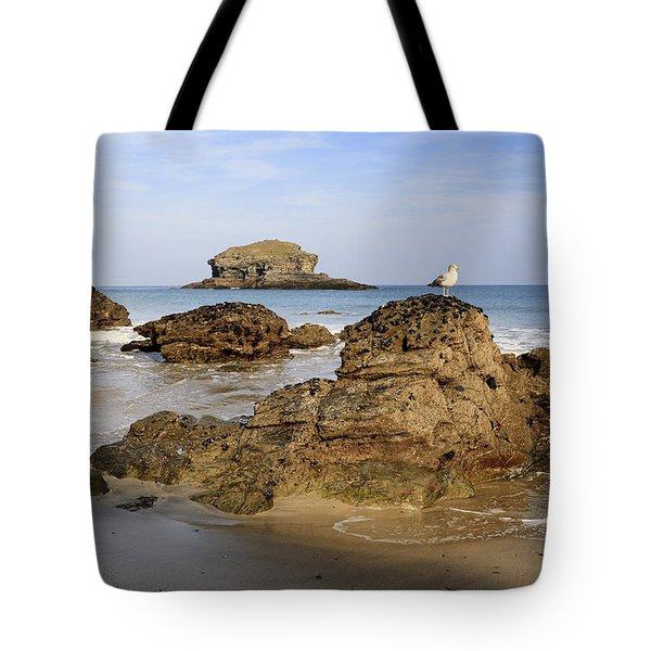 Portreath Tote Bag by Shirley Mitchell