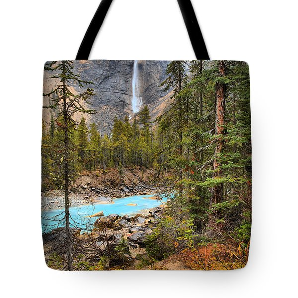 Tote Bag featuring the photograph Portrait Of Takakkaw Falls by Adam Jewell