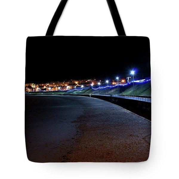 Portrush Seafront At Night Tote Bag