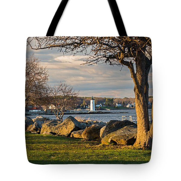 Portsmouth Harbor Light At New Castle Commons Tote Bag