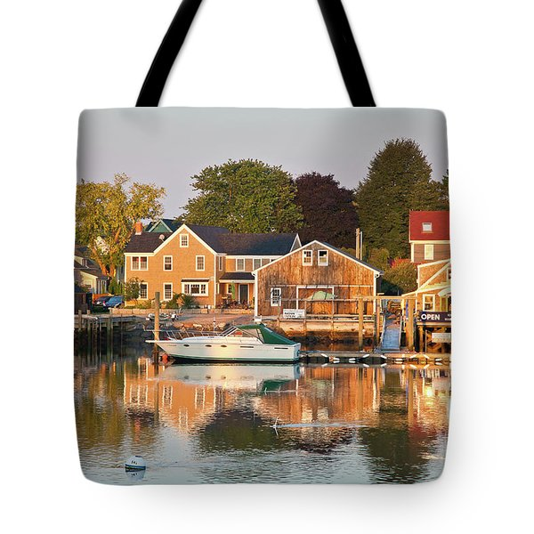 Tote Bag featuring the photograph Portsmouth South End Waterfront by Susan Cole Kelly