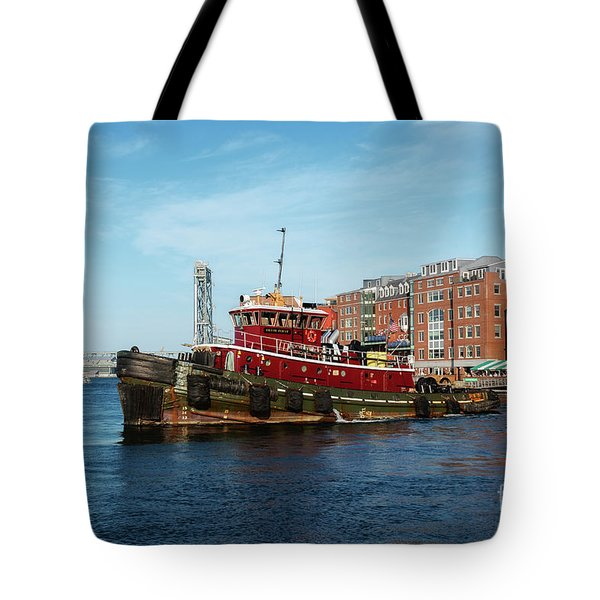Tote Bag featuring the photograph Portsmouth Tug by Sharon Seaward